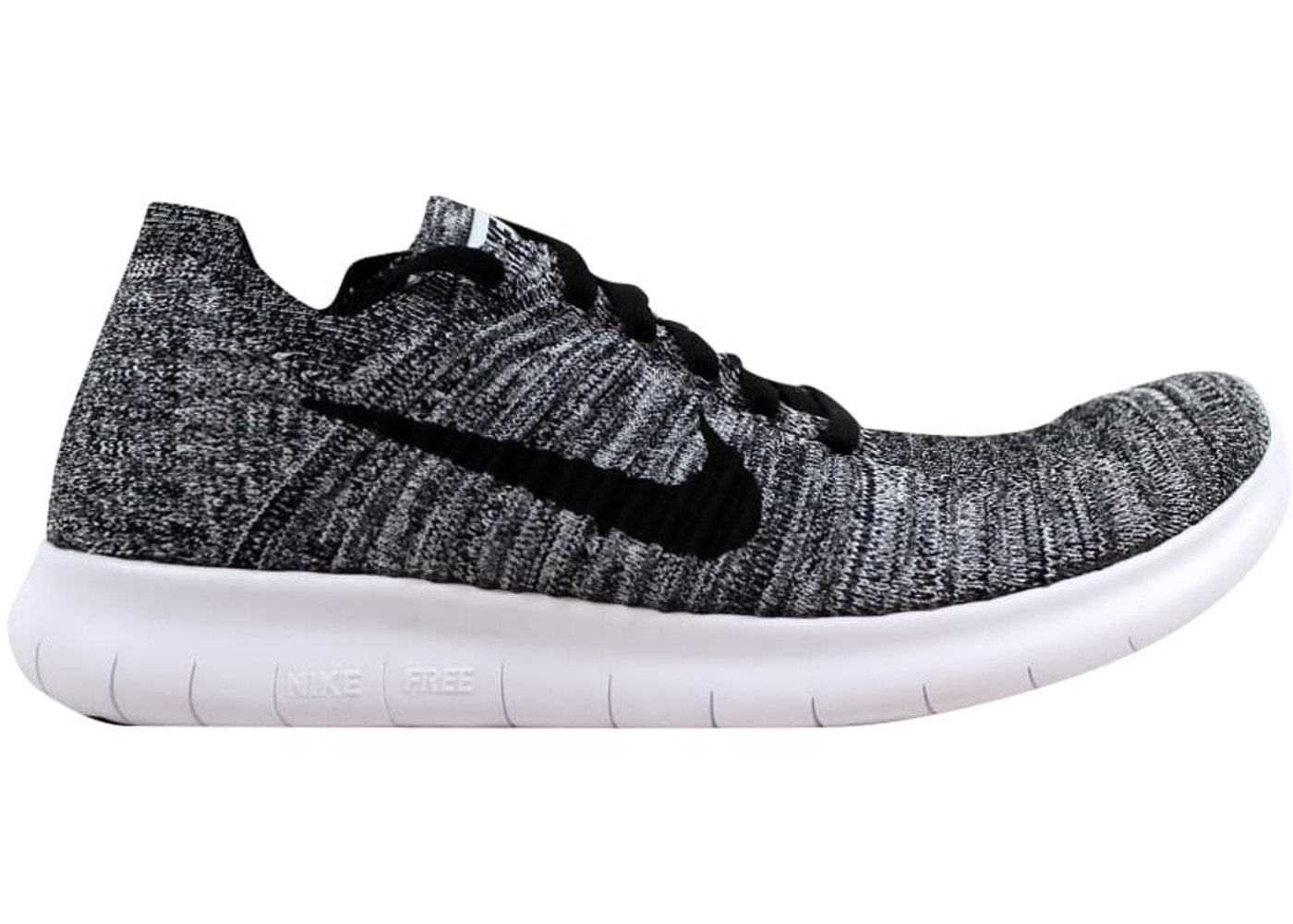 50% alennus 100% aito virallinen Nike Free RN Flyknit White/Black