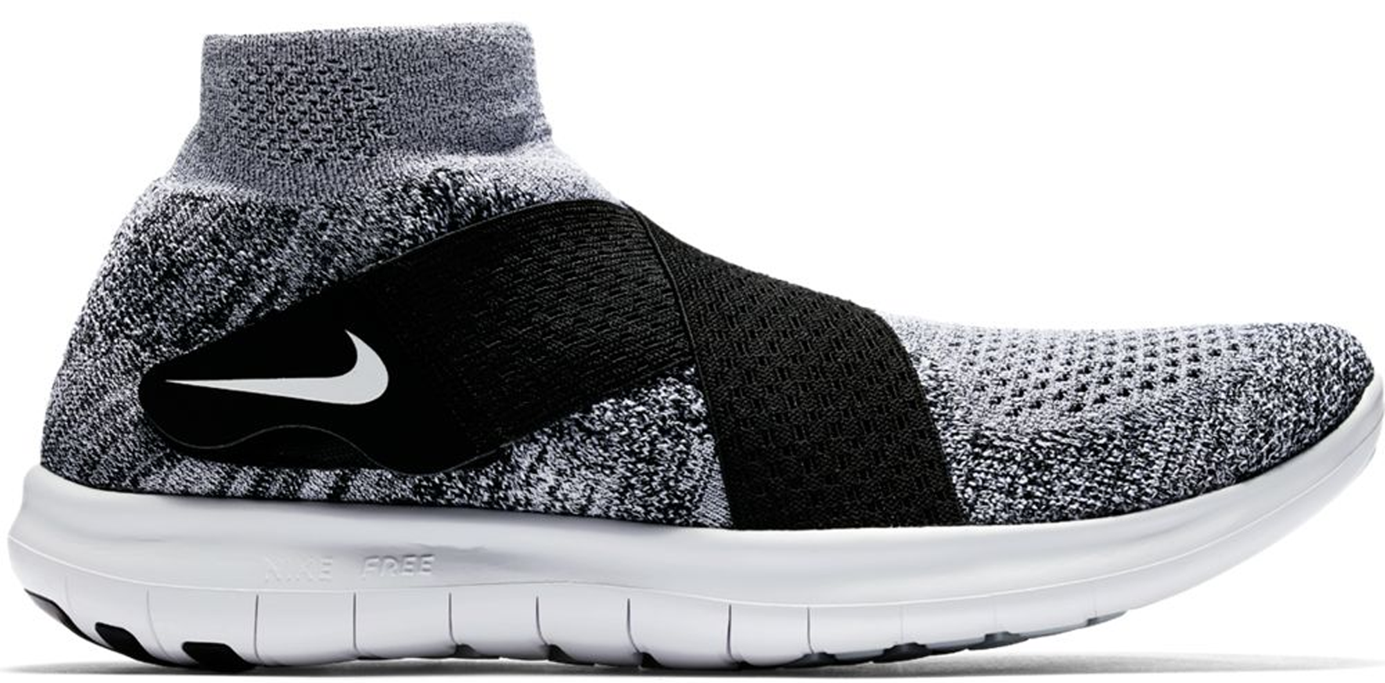 brand new ed399 88783 ... shop nike free rn motion flyknit 2017 black white 45aa3 650f6