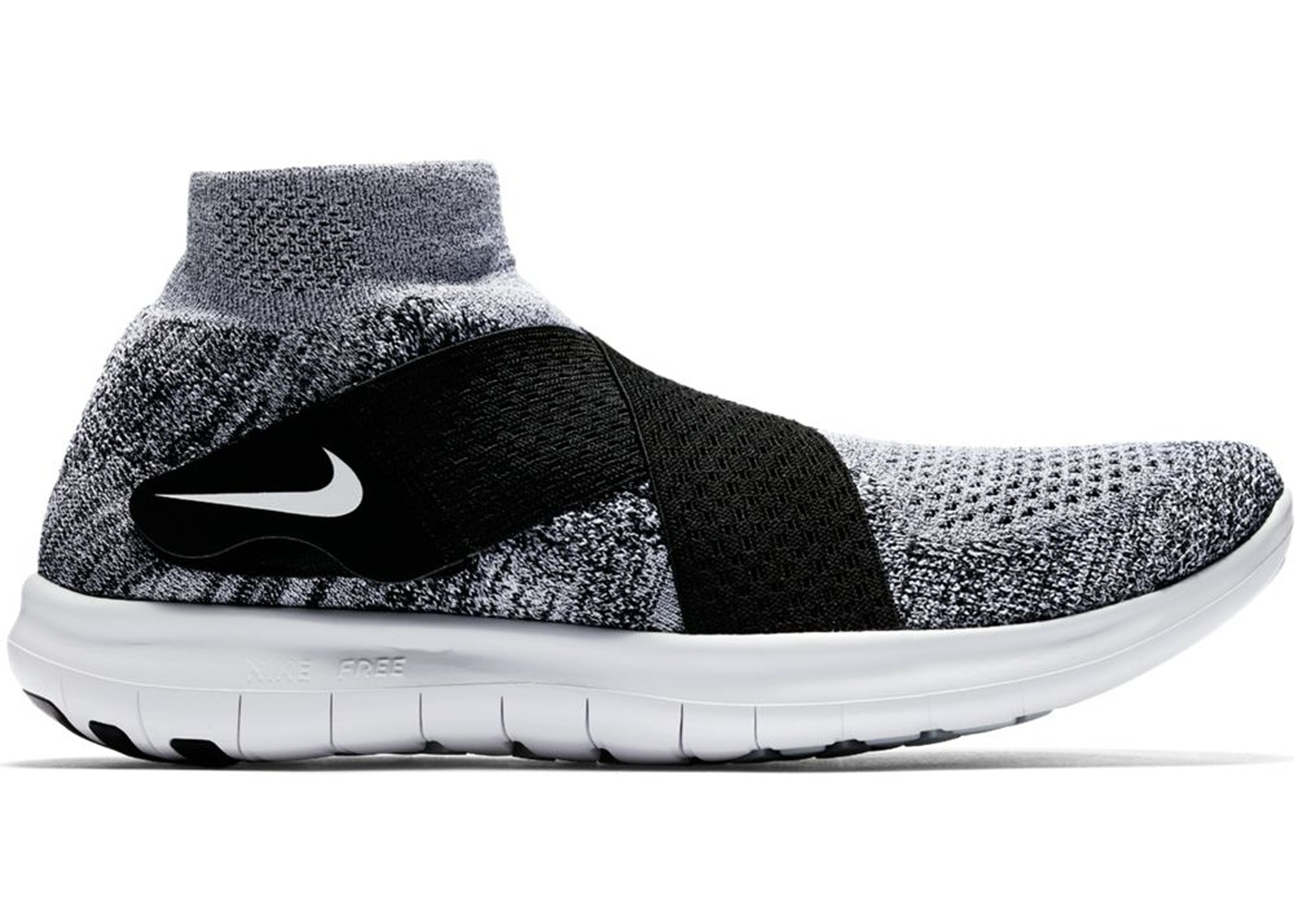 Nike Free RN Motion Flyknit 2017 Black White - 880845-001