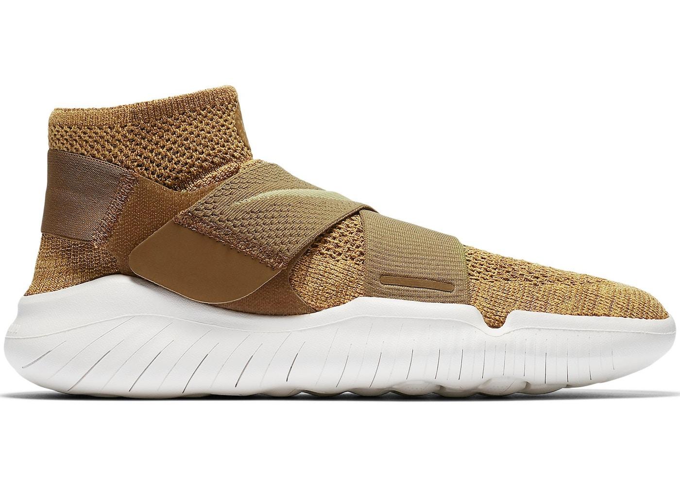 matiz Constitución República  Nike Free RN Motion Flyknit 2018 Golden Beige - 942840-201