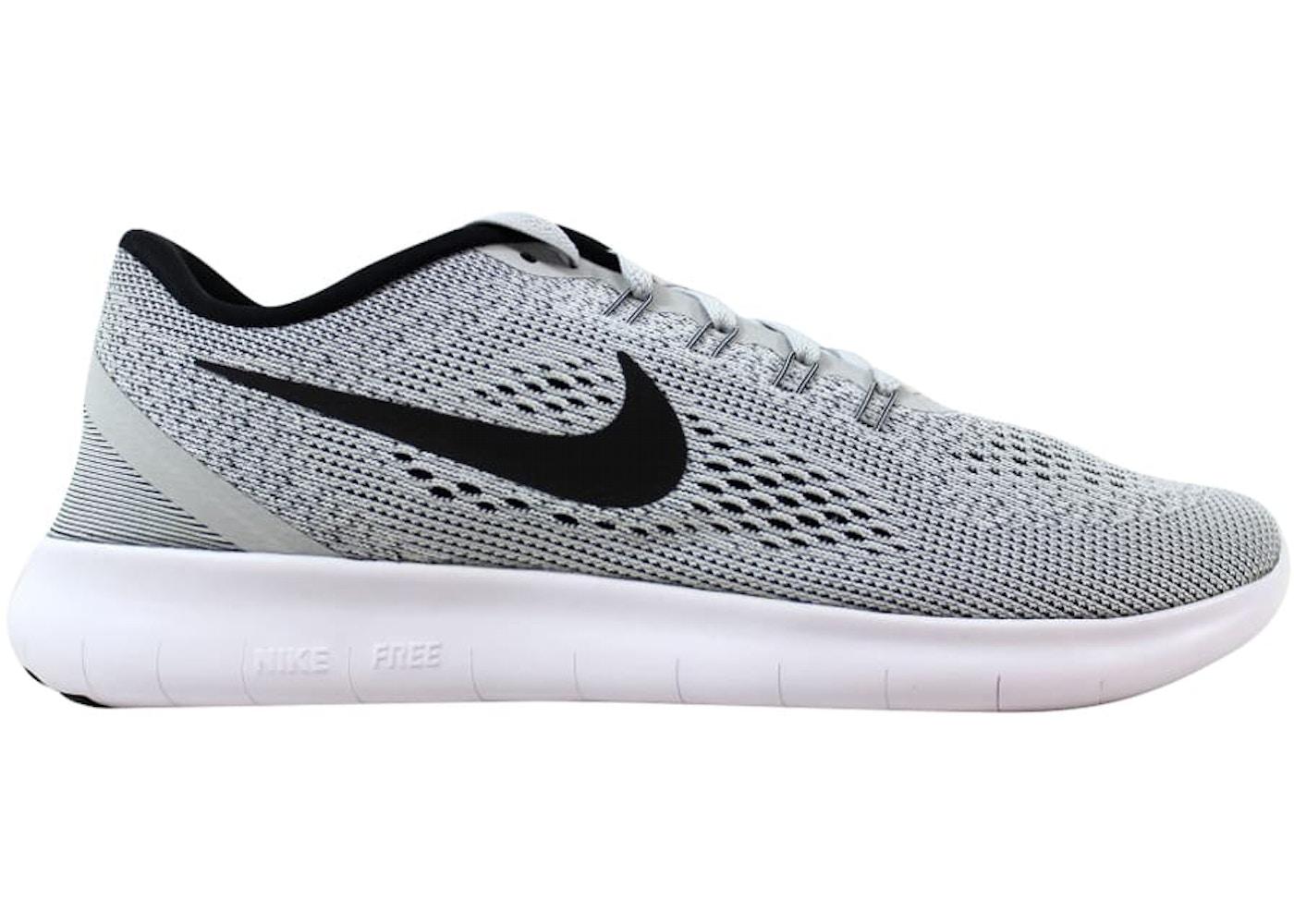 Nike Free RN White Black-Pure Platinum - 831508-101 297613ef6ff1