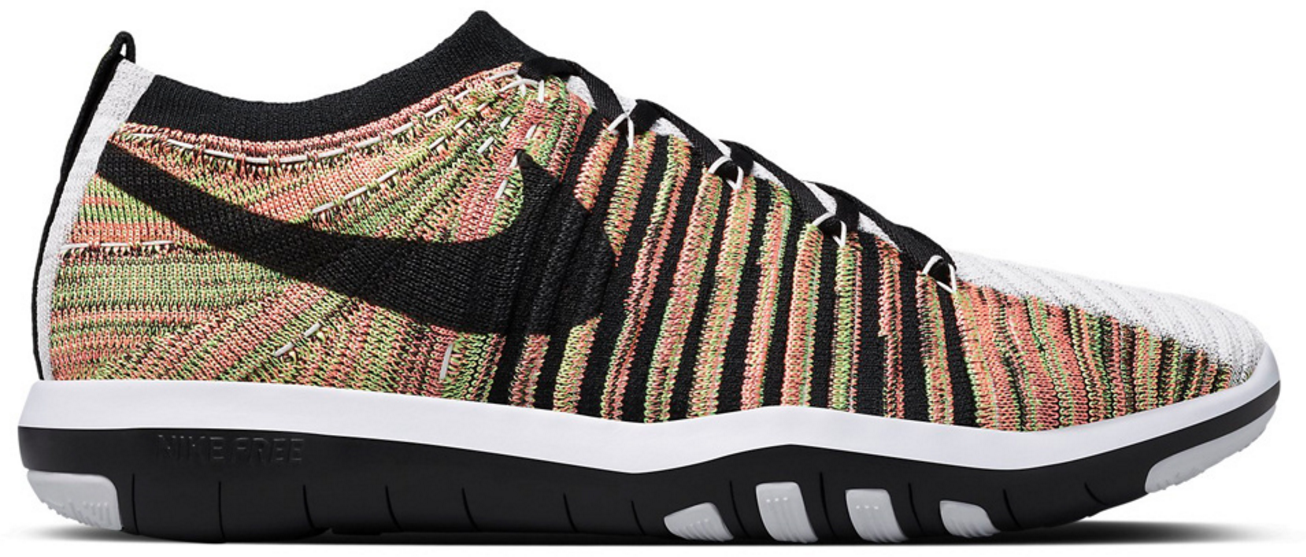 NIke Free Transform Flyknit Tisci Multi-Color Sneakers (Multicolor/Atomic Pink-Atomic Pink-Ghost Green)