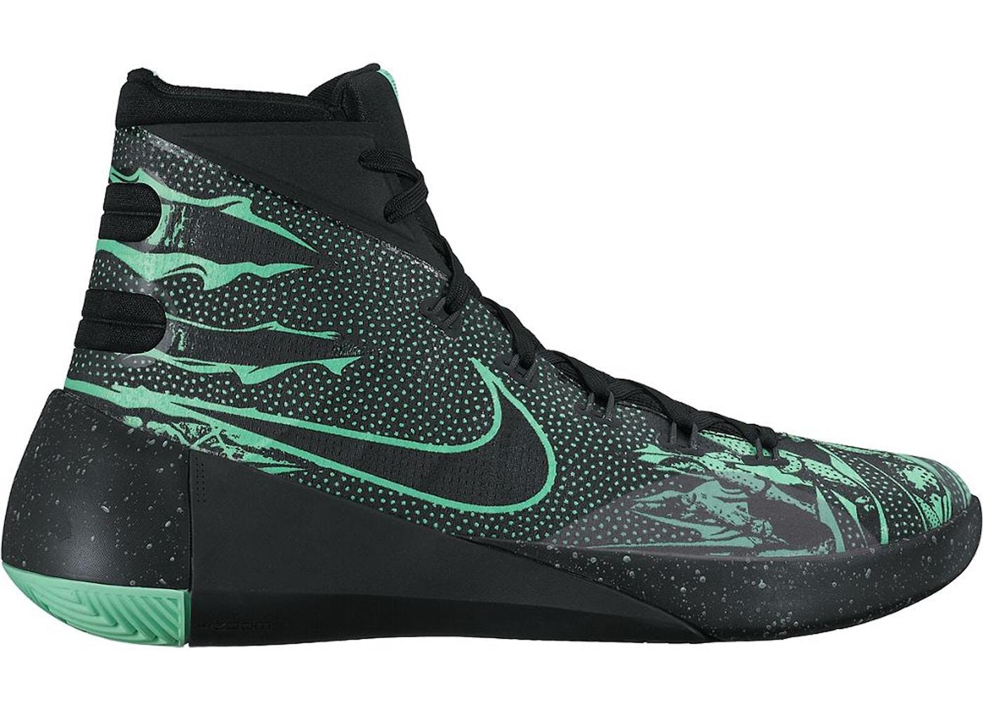 online store c9da4 be56e Nike Hyperdunk 2015 Black Green Glow - 749567-030