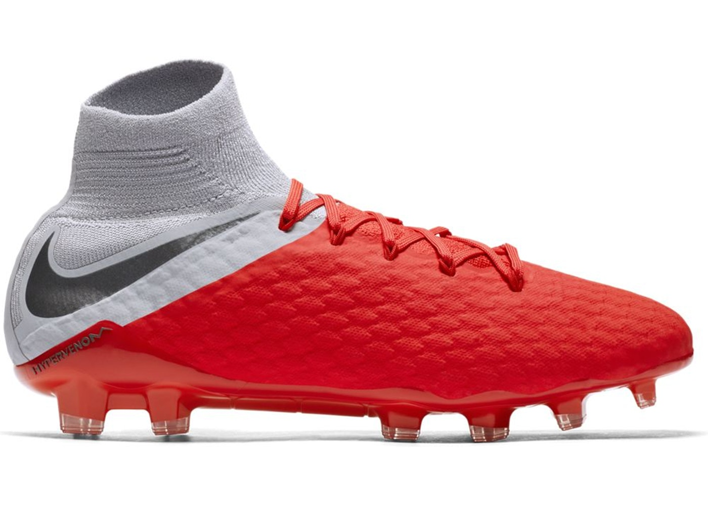 new product e946d be09b Nike Hypervenom Phantom 3 Pro DF FG Light Crimson Wolf Grey