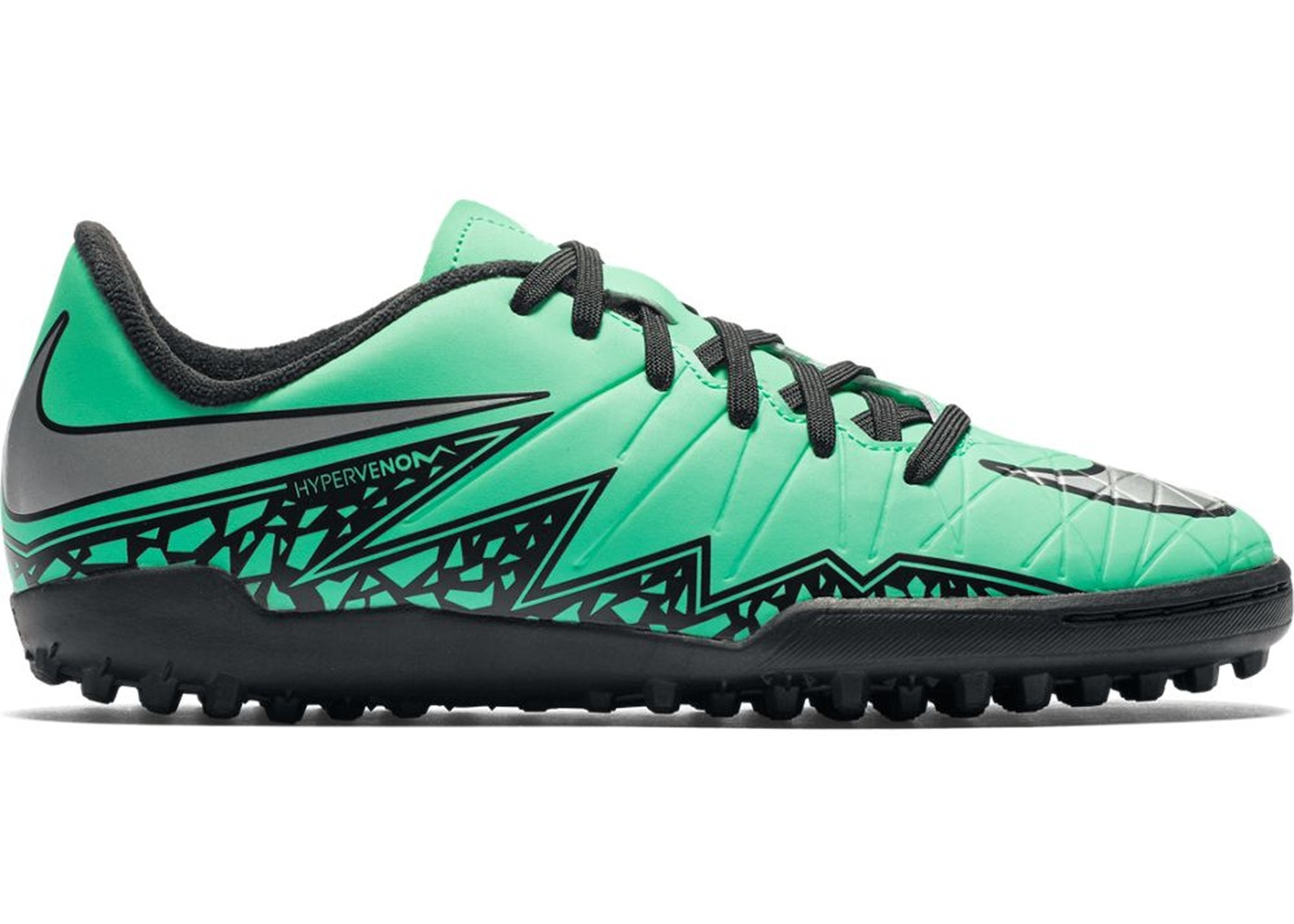 hot sale online cca35 fa751 Nike Hypervenom Phelon II TF Green Glow (GS)