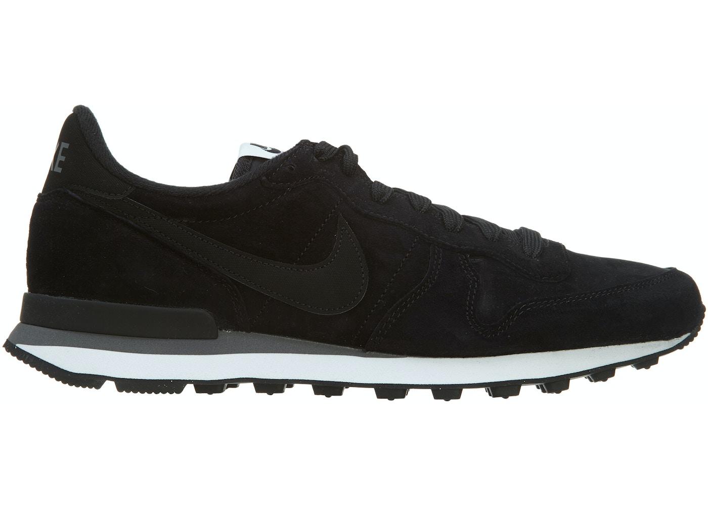 Charles Keasing blanco como la nieve Derecho  Nike Internationalist Leather Black Black-Dark Grey-White - 631755-010