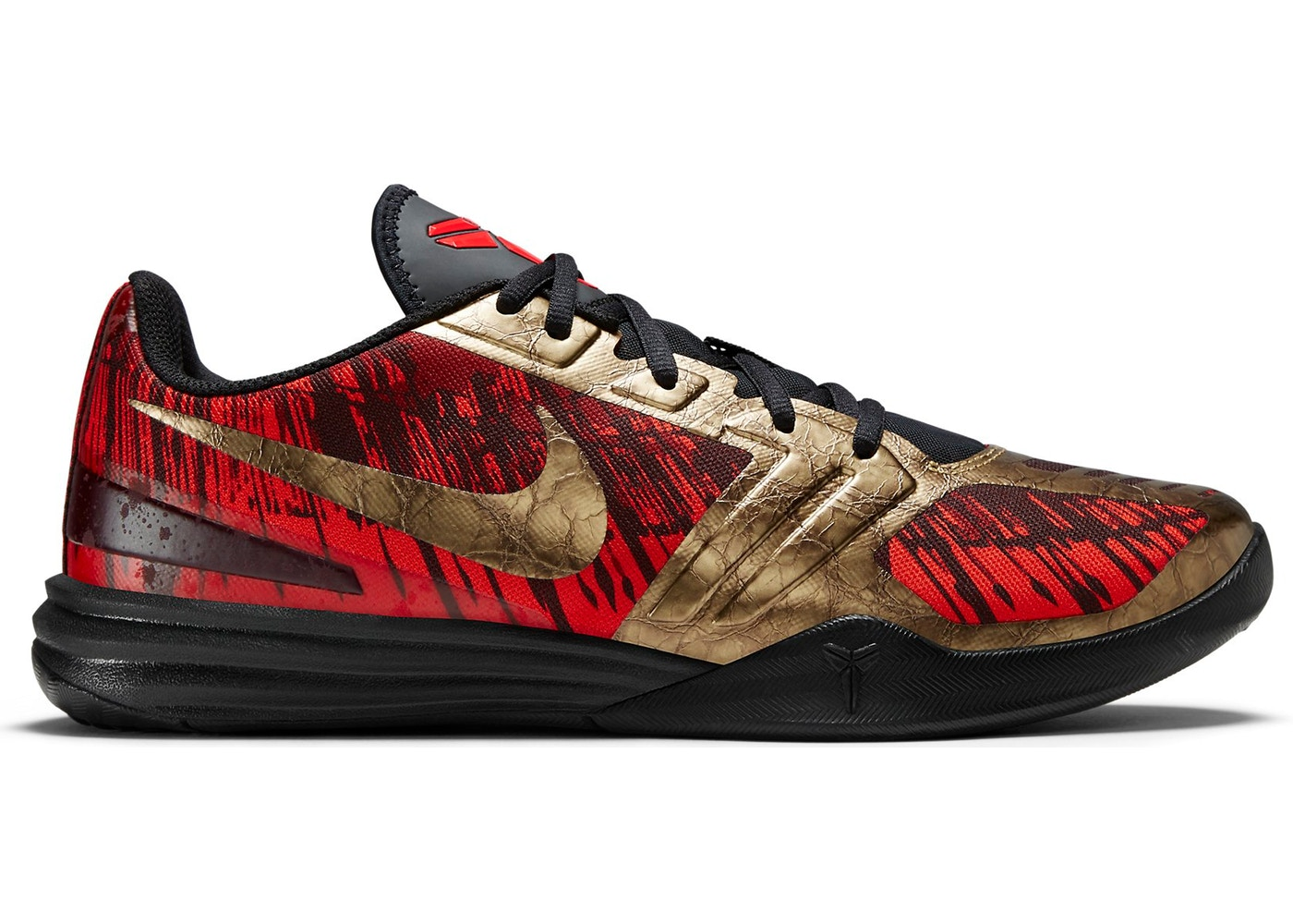 info for 57ca0 3369b Nike KB Mentality Black Metallic Gold Chilling Red - 704942-008