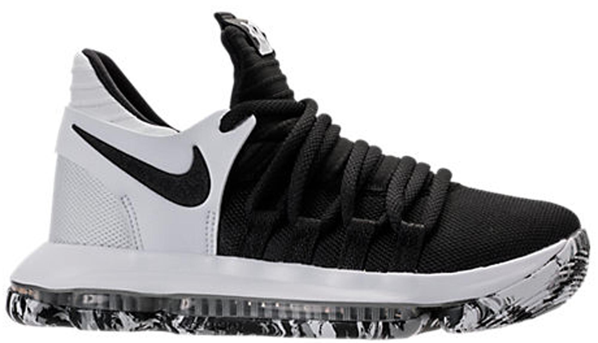 Nike KD 10 Black White (GS) - 918365-008
