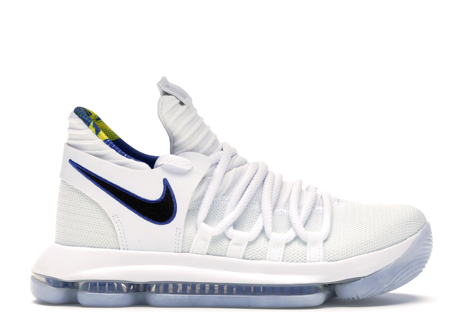 GS White Game Royal AJ7781-101 Youth Size 6.5Y Nike Zoom KD 10 X LMTD NBA
