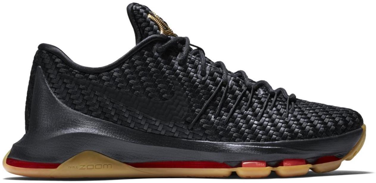 Good Price Nike KD 8 EXT Black/Black-Metallic Gold-Laser Crimson