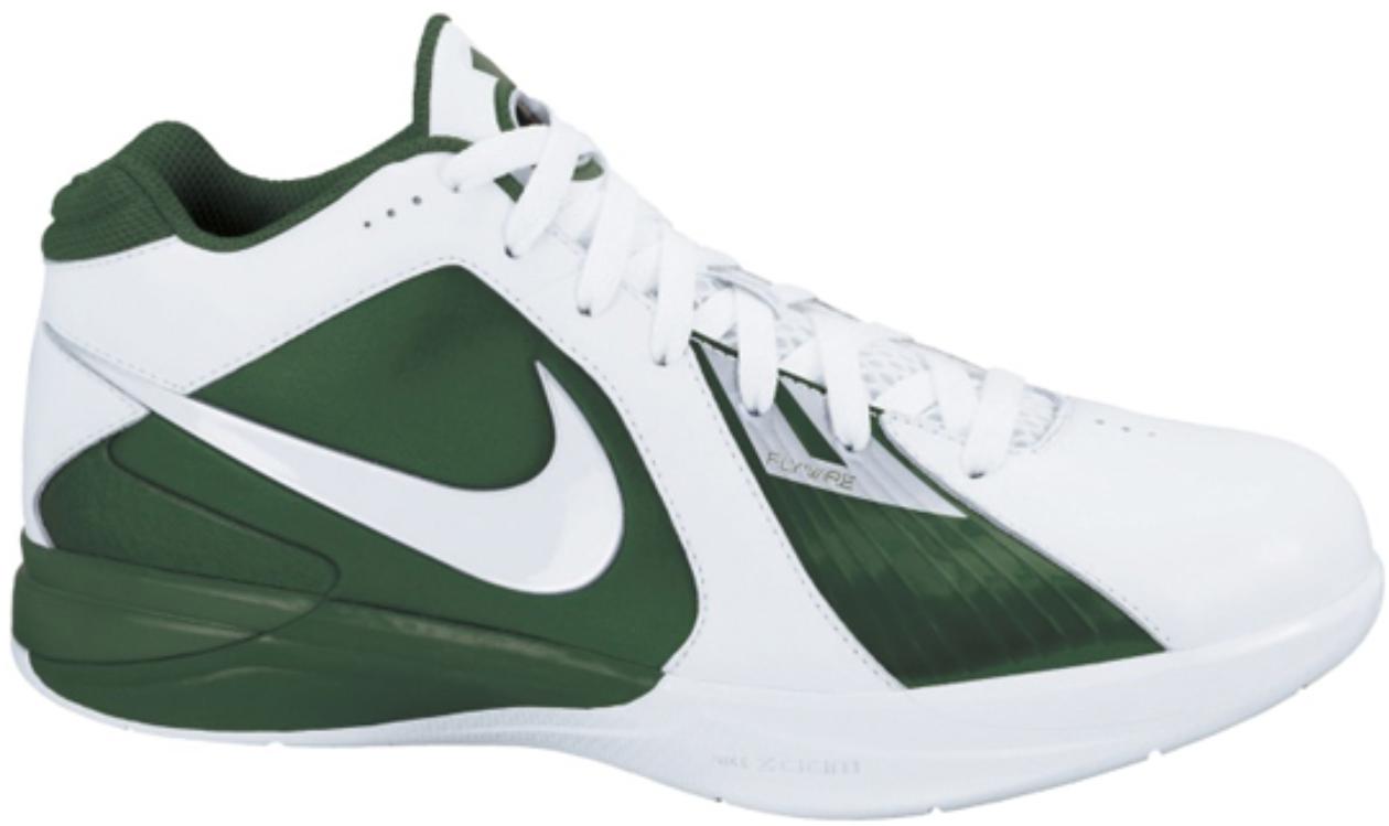 Nike KD 3 TB Green Sneakers (White/White-Gorge Green-Metallic Silver)