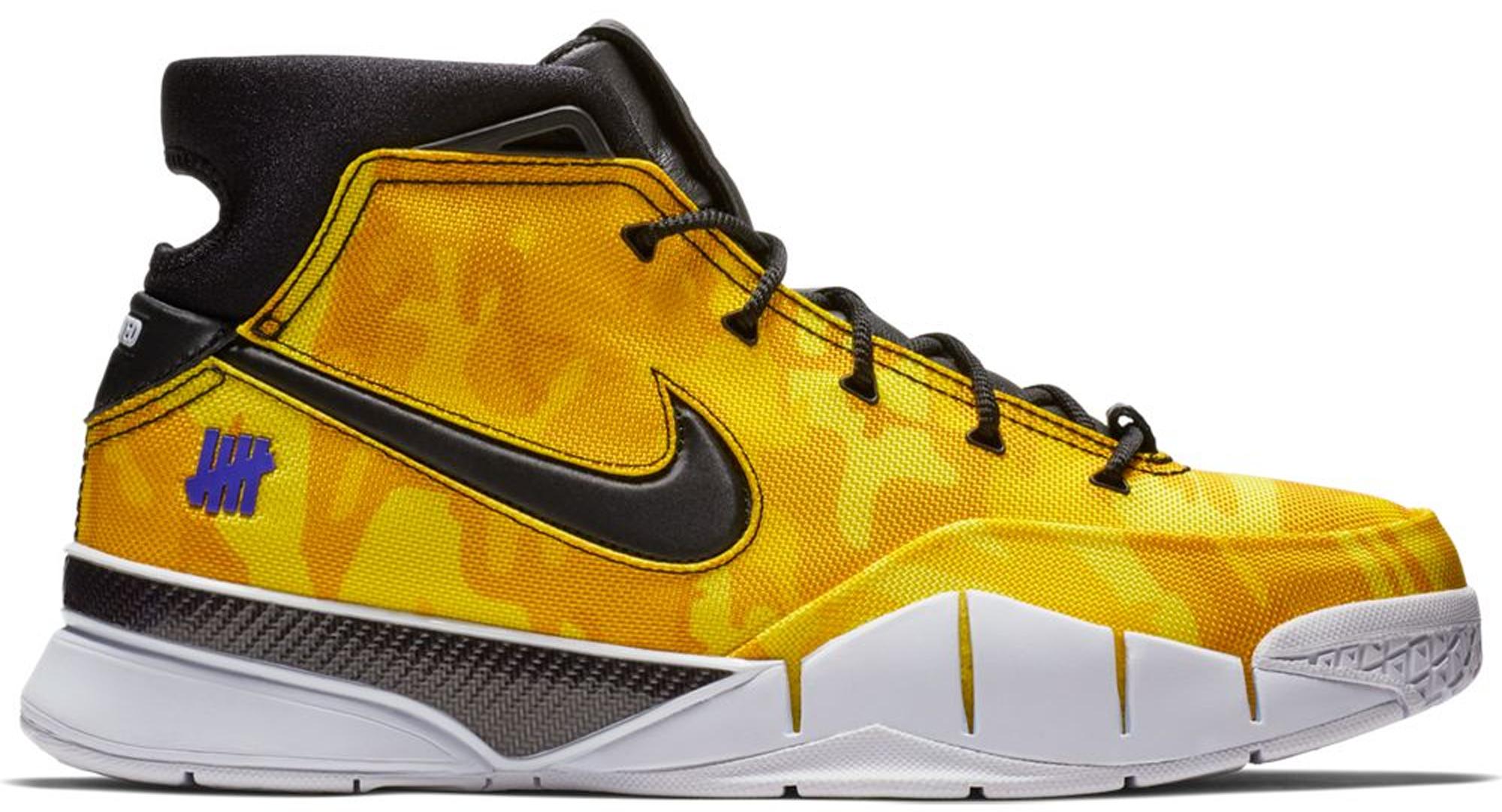 Nike Kobe 1 Protro Undefeated Yellow