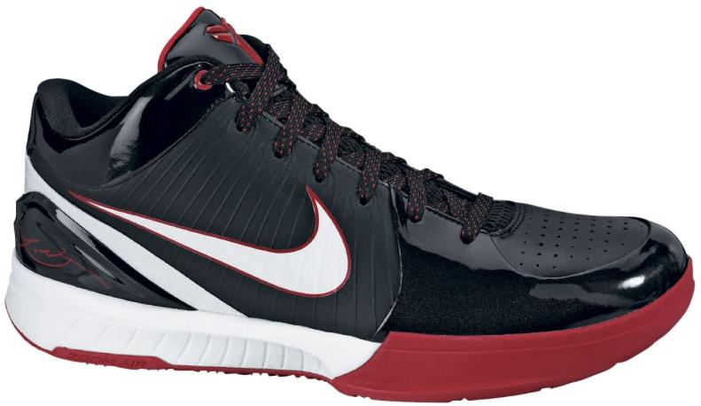 Nike Kobe 4 Black White Varsity Red