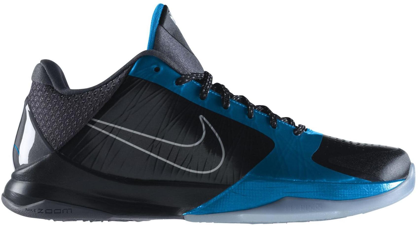Nike Kobe 5 Dark Knight Sneakers (Black/Black-Dark Grey-Neptune Blue)