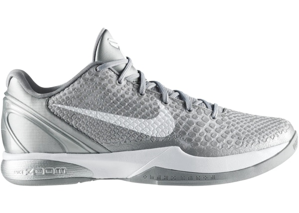 Nike Kobe 6 Metallic Silver Metallic Silver White 395edd19d