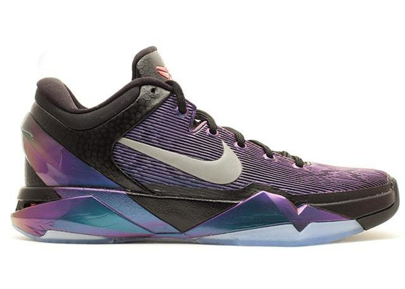 8fb5efb09674 ... Black Court Purple-Turquoise Blue 488371 005 Nike Kobe 7 Invisibility  Cloak ...