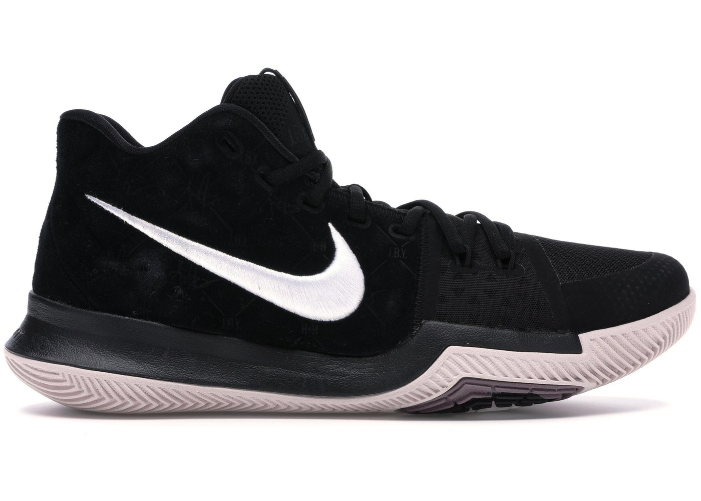 official photos 07986 80dfa Kyrie 3 Black Suede - 852395-010
