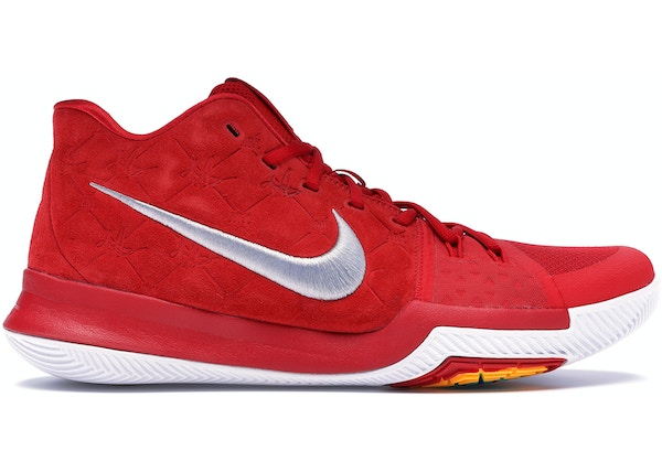 cheap for discount 16700 4cd8c Kyrie 3 Red Suede