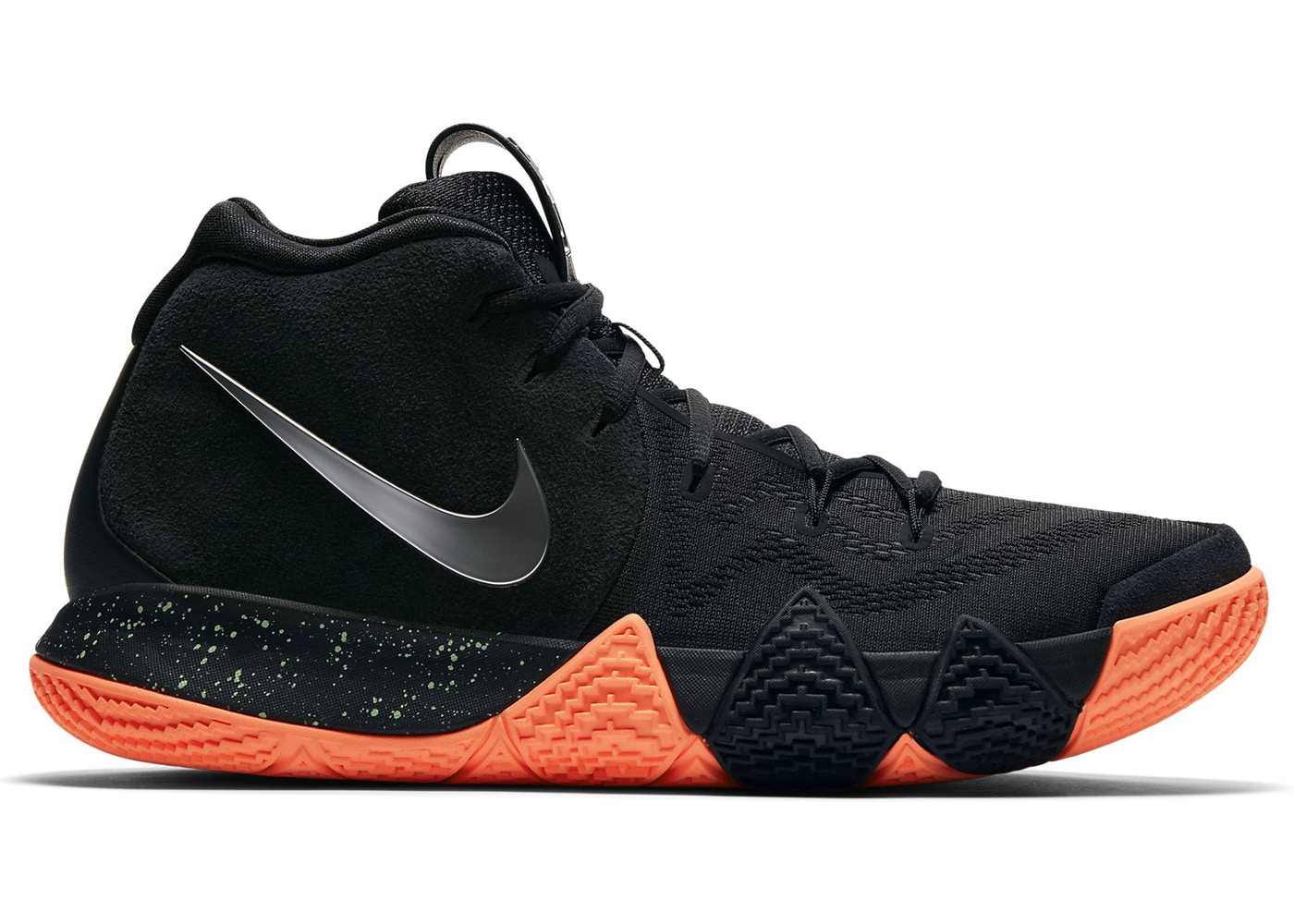 the latest 8cff4 ce7eb Kyrie 4 Black Metallic Silver
