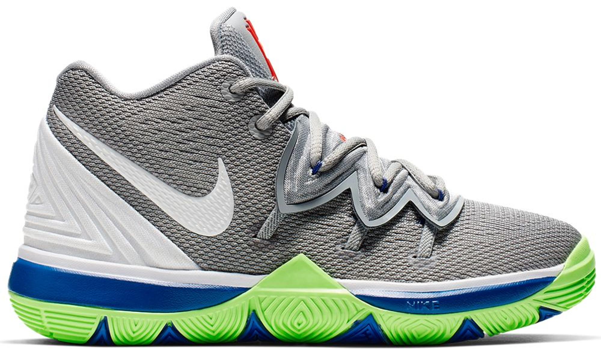 Nike Kyrie 5 Wolf Grey Lime Blast (Ps) In Wolf Grey/White-Lime Blast