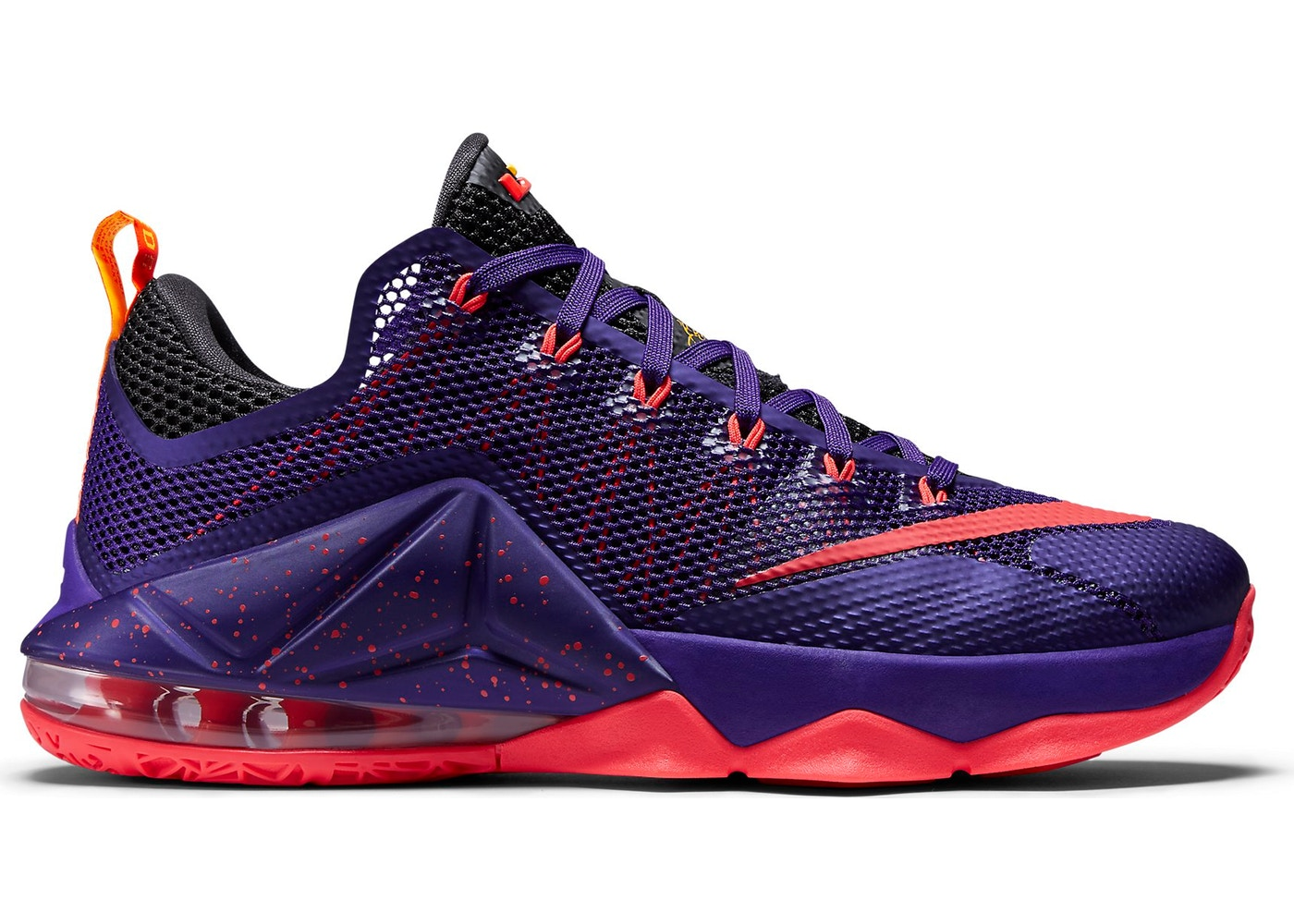 detailed look c0bc5 f6e8b LeBron 12 Low Court Purple