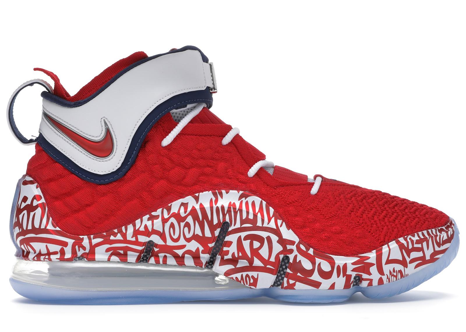 Nike LeBron 17 Graffiti Remix Red