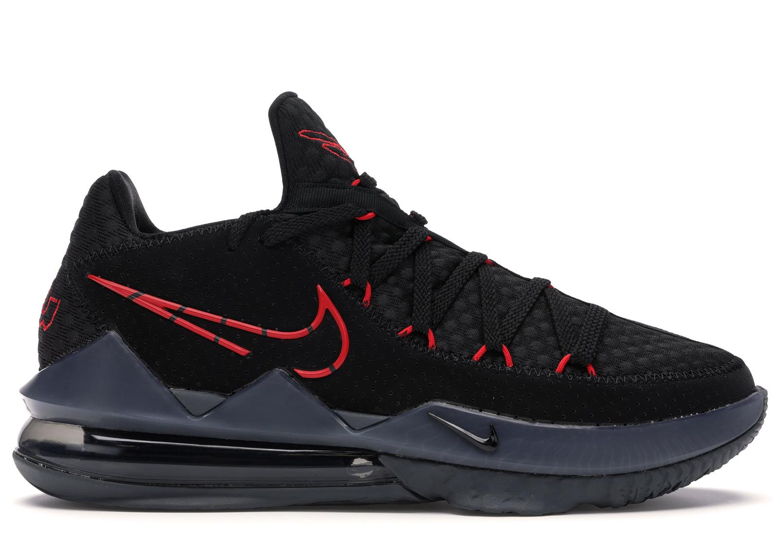 Nike LeBron 17 Low Black Red Dark Grey