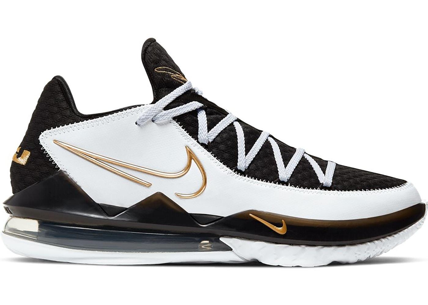 Nike LeBron 17 Low White Metallic Gold