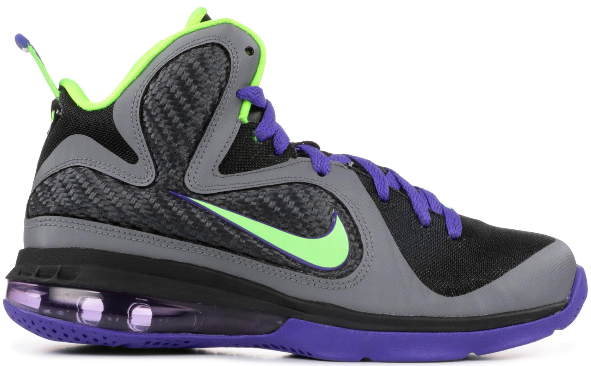 LeBron 9 Black Electric Green Court Purple (GS)