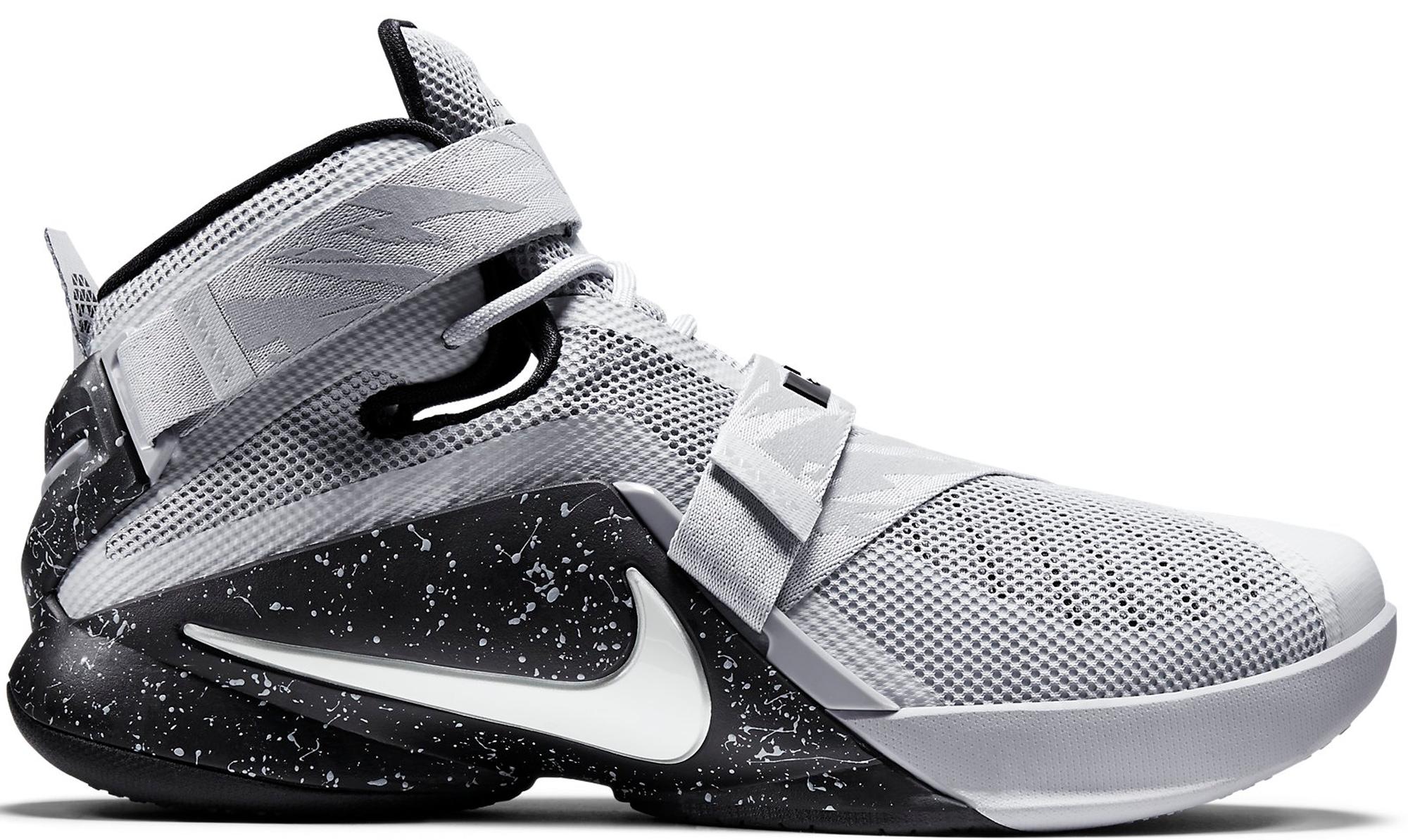 Nike LeBron Soldier 9 Wolf Grey White