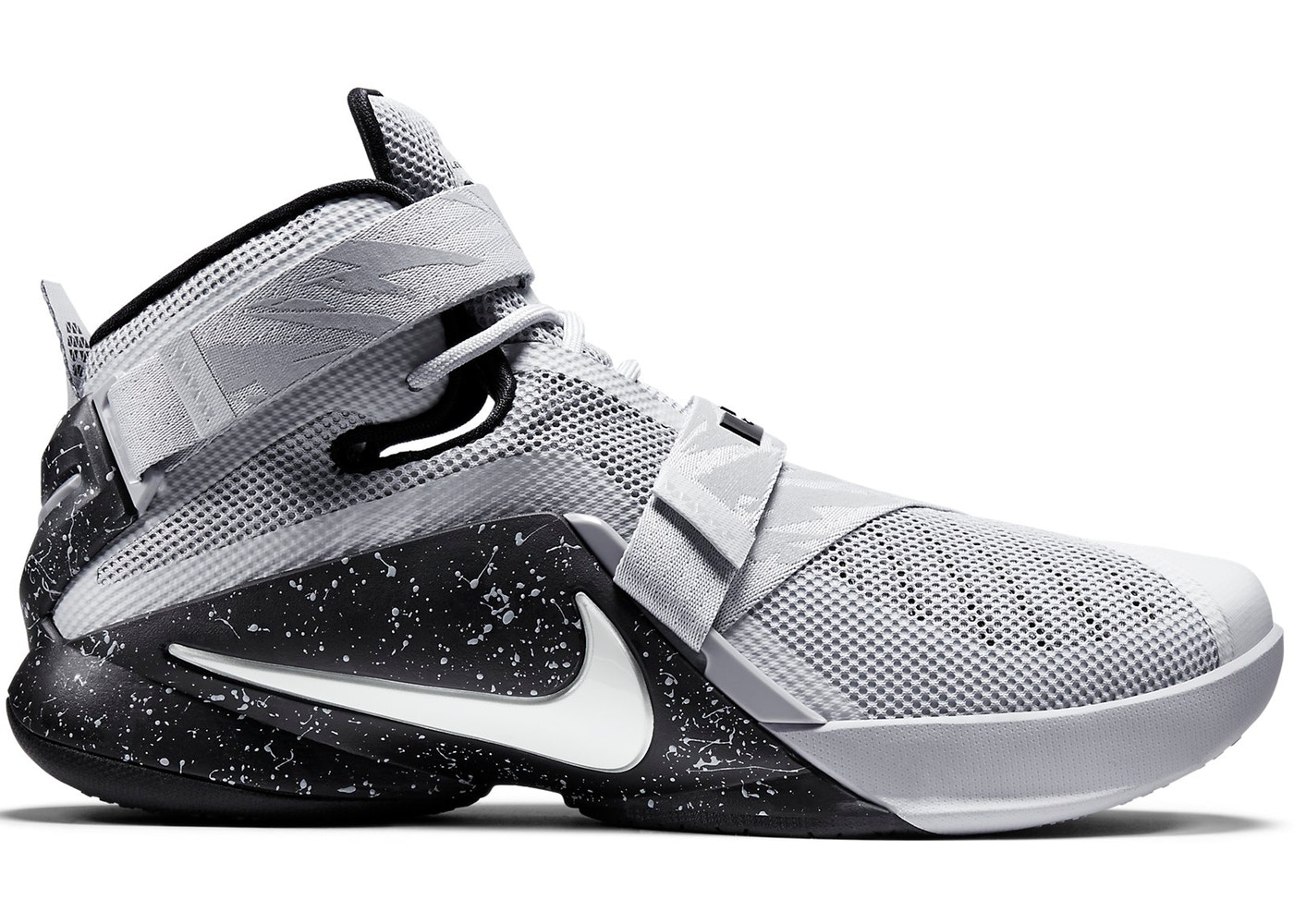 be50c9ff25b LeBron Soldier 9 Wolf Grey White Black - 749490-010