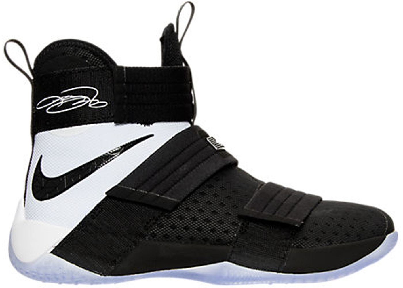 a52e2d31ee195 LeBron Zoom Soldier 10 Black White - 844378-001