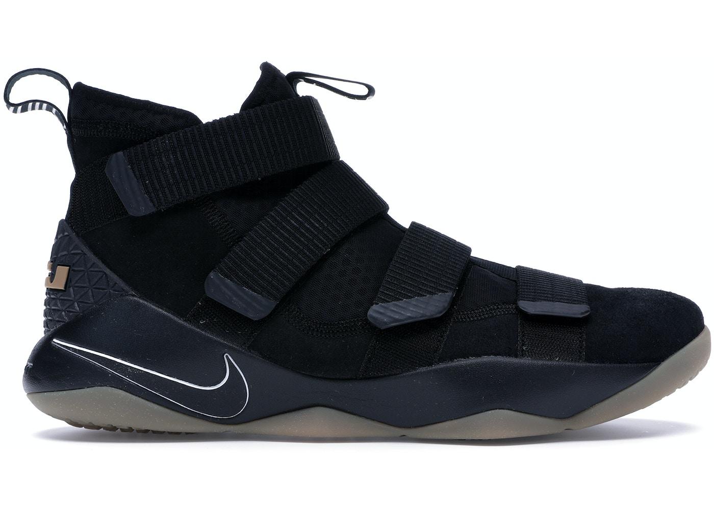 footwear watch great quality Nike LeBron Zoom Soldier 11 Black Gum - 897644-007