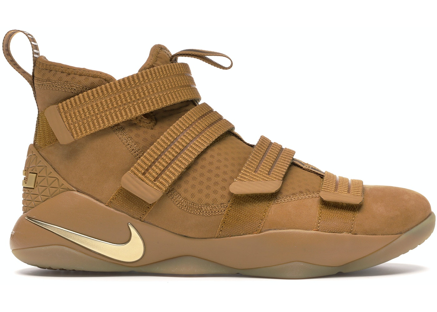mejor amado venta al por mayor tecnologías sofisticadas Nike LeBron Zoom Soldier 11 Wheat - 897646-700