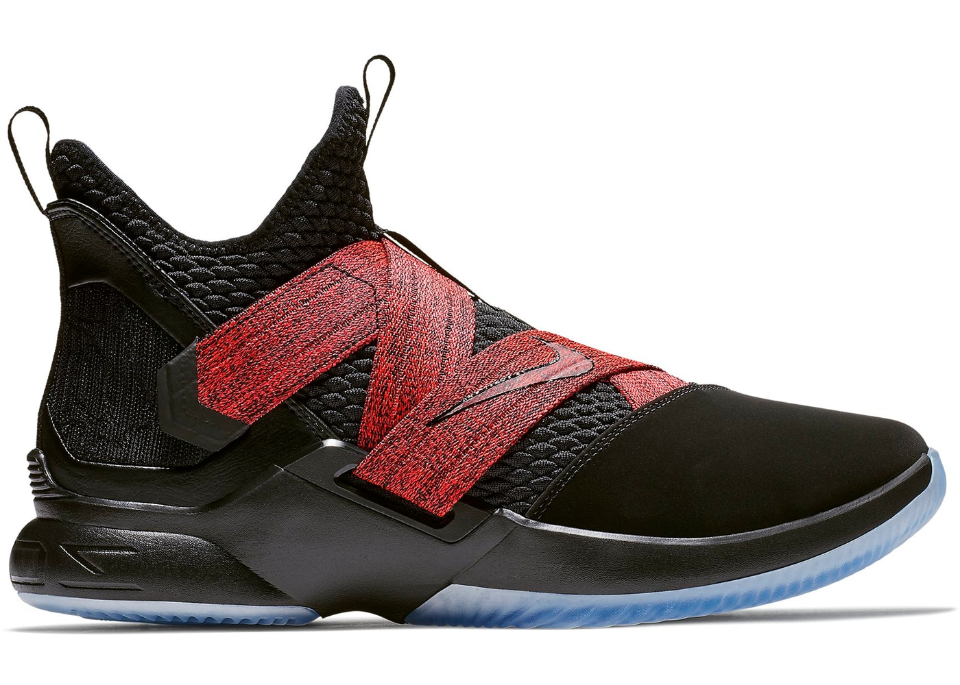 new style a4c58 15d53 LeBron Zoom Soldier 12 Black Red