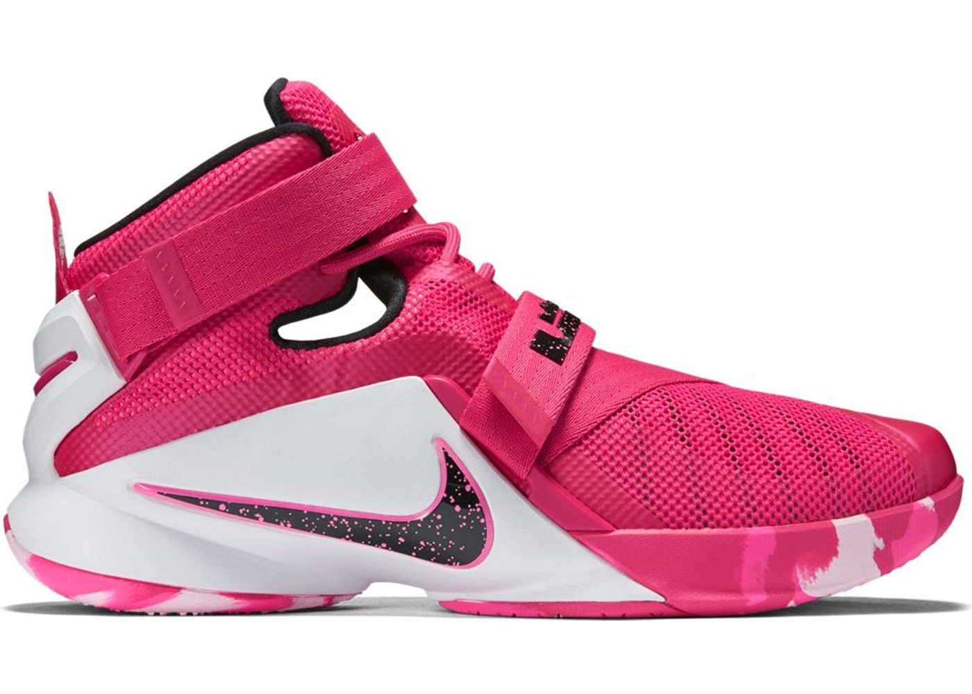 buy popular 2ba31 b22f4 Nike LeBron Zoom Soldier 9 Think Pink