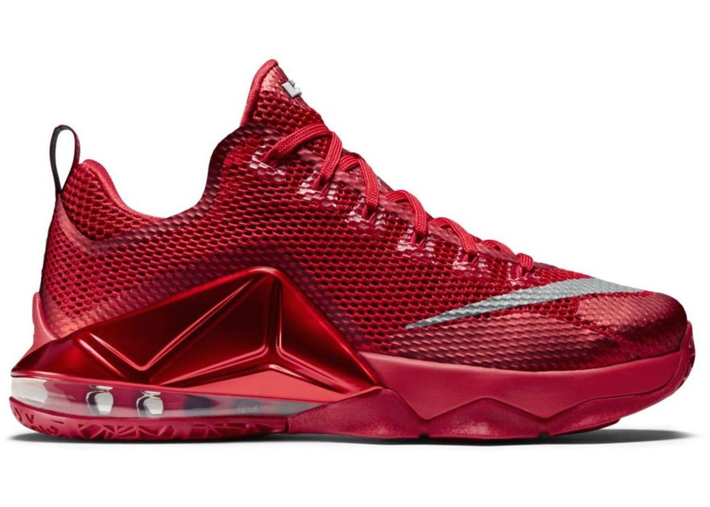 first rate a44b9 d8463 LeBron 12 Low University Red