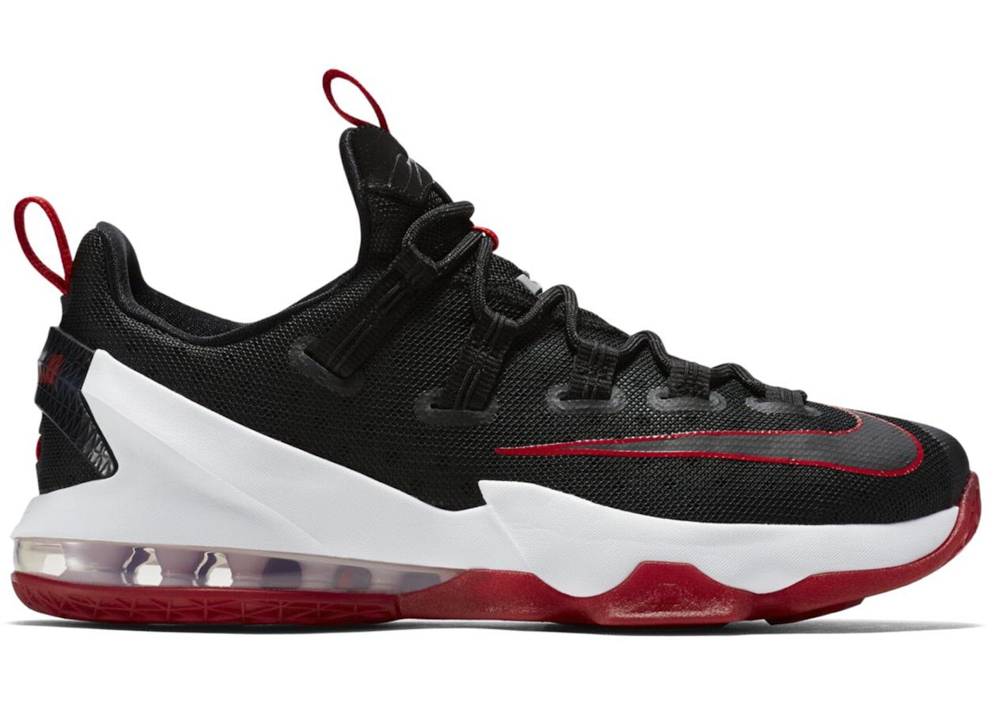 on sale e9045 aedd5 LeBron 13 Low Black Red - 831926-061