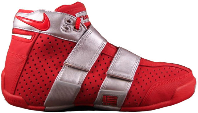 Nike LeBron 20-5-5 Ohio State Sneakers (Varsity Red/Varsity Red-Metallic Silver)