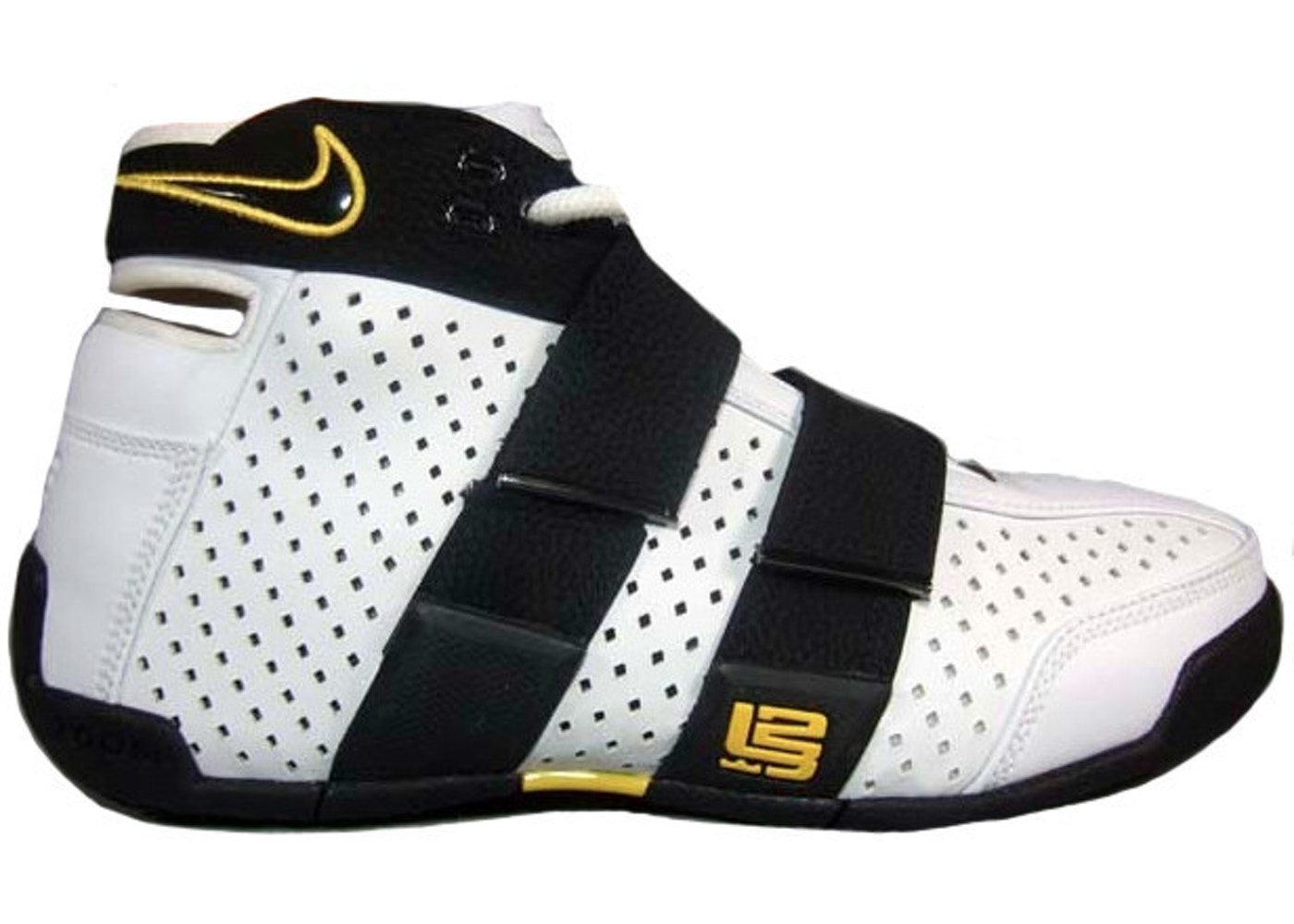 pick up 414ed 1b85b LeBron 20-5-5 White Black Varsity Maize