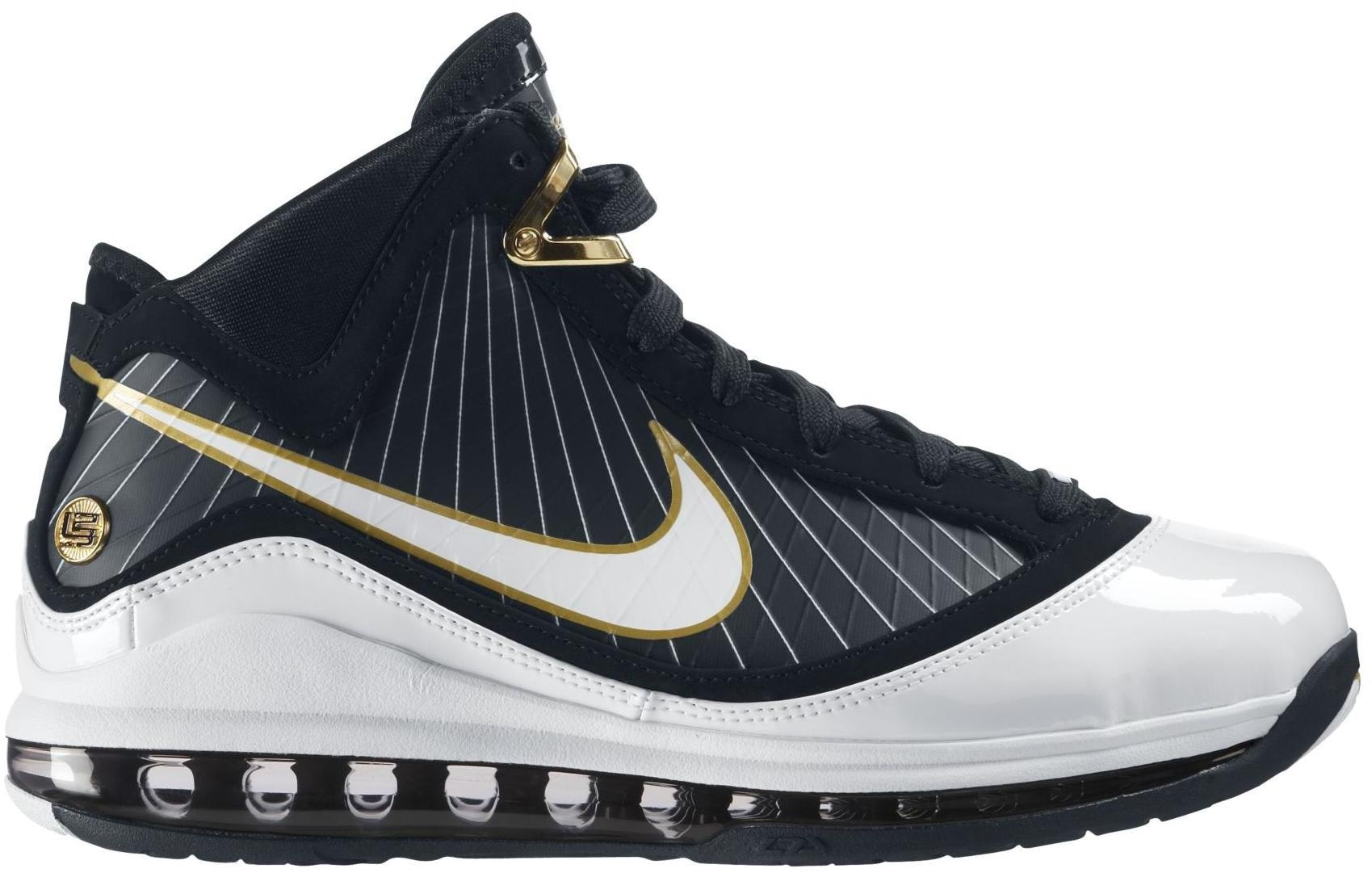 LeBron 7 Black/White-Metallic Gold