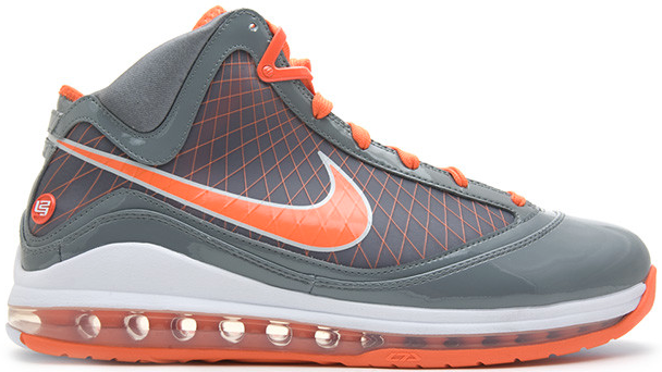 Nike LeBron 7 Eastbay TB Orange Sneakers (Cool Grey/Orange Blaze-White)