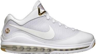 Nike LeBron 7 Low White Metallic Gold