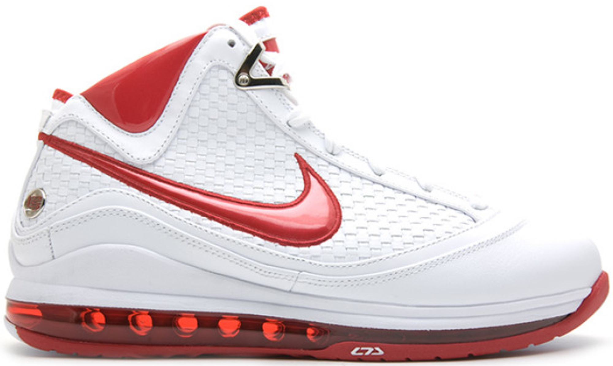 Nike LeBron 7 NFW (No Flywire) Sneakers (White/Varsity Red)
