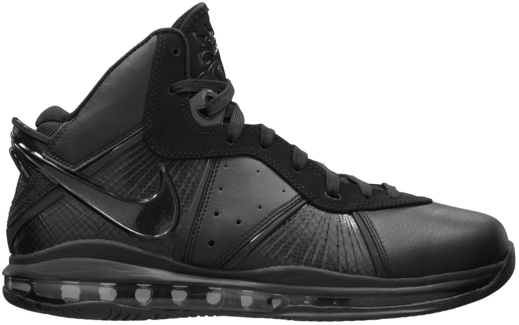 Buy 178315 Nike Air Max Lebron 8 Men Blackout Black Anthracite Shoes