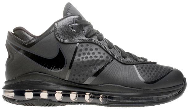 Nike LeBron 8 Low Triple Black - 456849-001