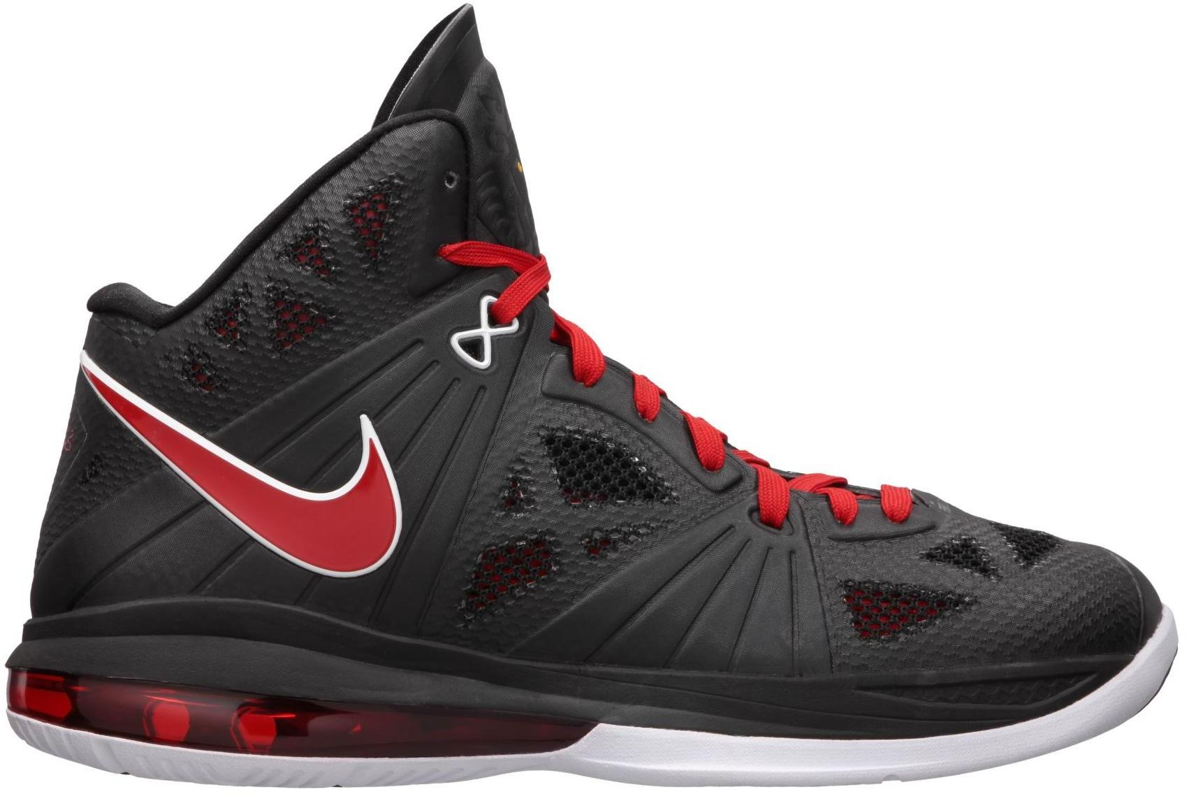 Nike LeBron 8 PS White/Black/Red