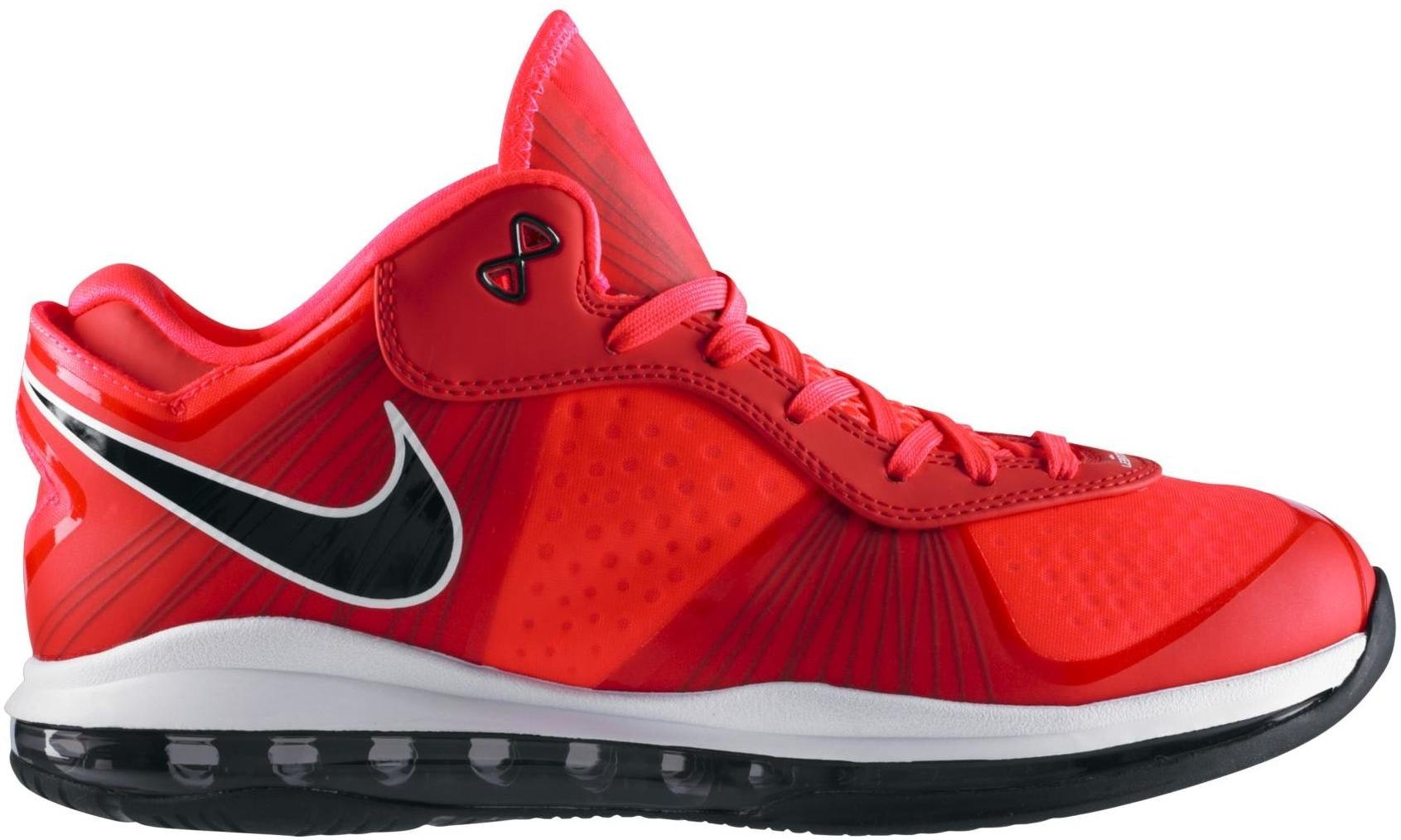 LeBron 8 V/2 Low Solar Red