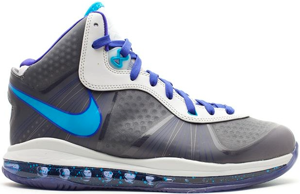 Nike LeBron 8 V\/2 Summit Lake Hornets Sneakers (Neutral Grey/Orion Blue-Concord)