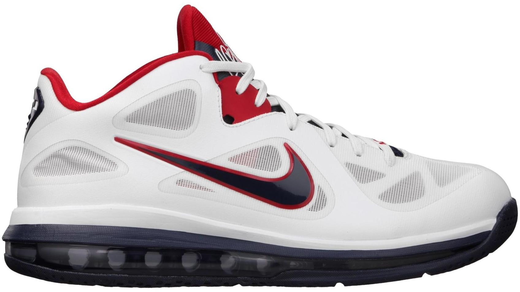 Nike Lebron 9 Low WHITE BLUE RED USA OLYMPIC 9.5